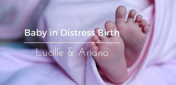 Baby in distress birth