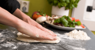 Make homemade pizza dough
