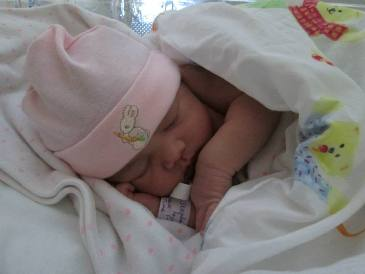 Harper the day she was born