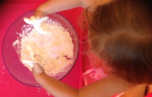 Mixing Soft Playdough
