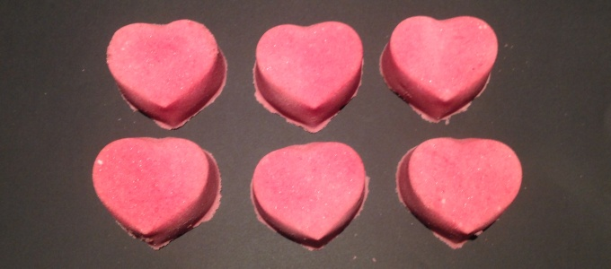 Heart Shaped Lavender Bath Bombs
