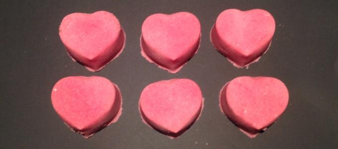Heart Shaped Lavender Bath Bombs
