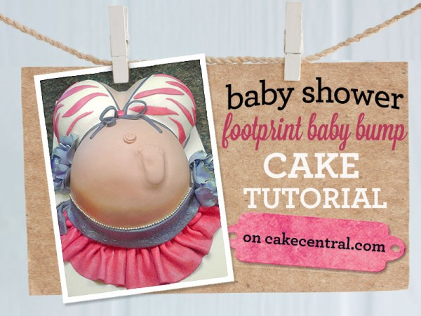 Baby Shower Cakes: Pregnant Belly