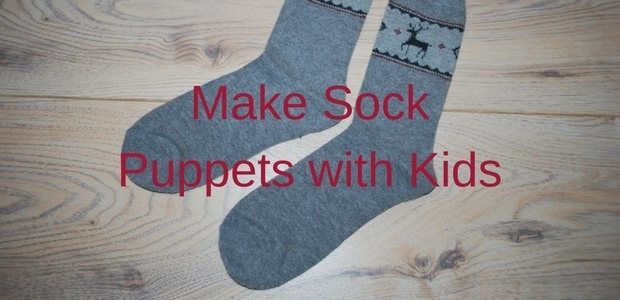 make sock puppets with kids