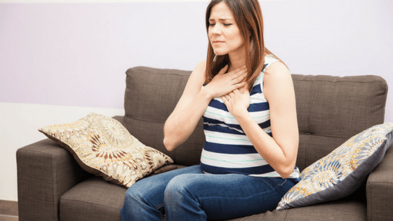 Pregnant Woman with Heartburn