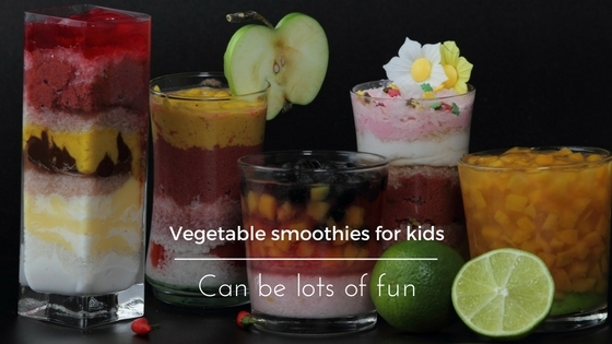 Vegetable smoothies for kids fun