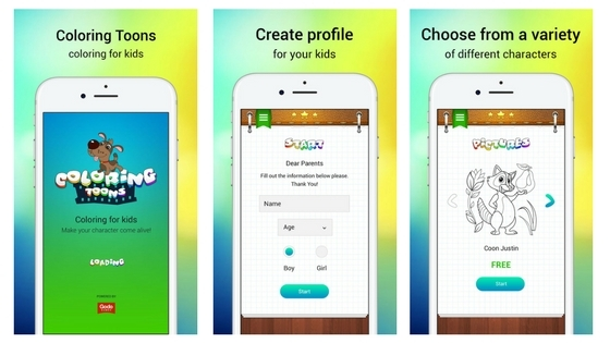 Coloring In apps for kids iphone