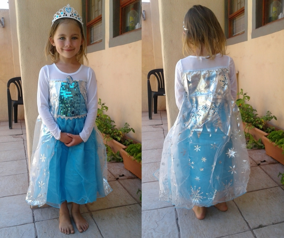 Elsa from Frozen dress front and back