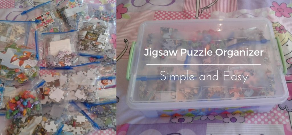 Jigsaw puzzle organizer simple and easy