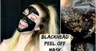 DIY blackhead remover peel off face mask