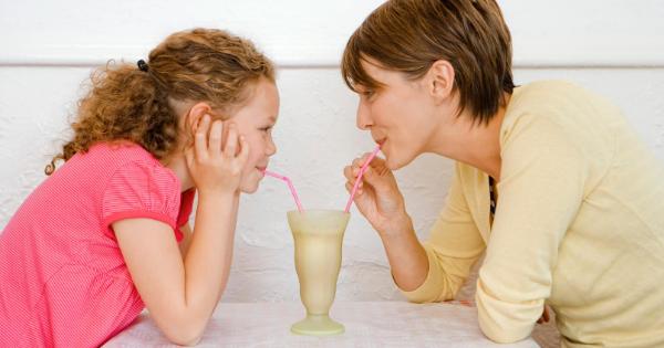 Mother child milkshake