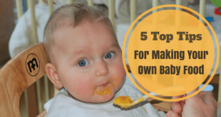 Top tips for making your own baby food