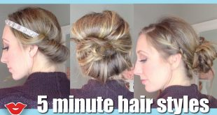 5 Minute Easy Hairstyles