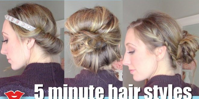 5 Minute Hairstyles For Short Hair: Three 5 Minute Easy Hairstyles