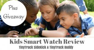 Kids smart watch review tinytrack sidekick buddy giveaway