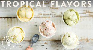 Tropical homemade ice-cream