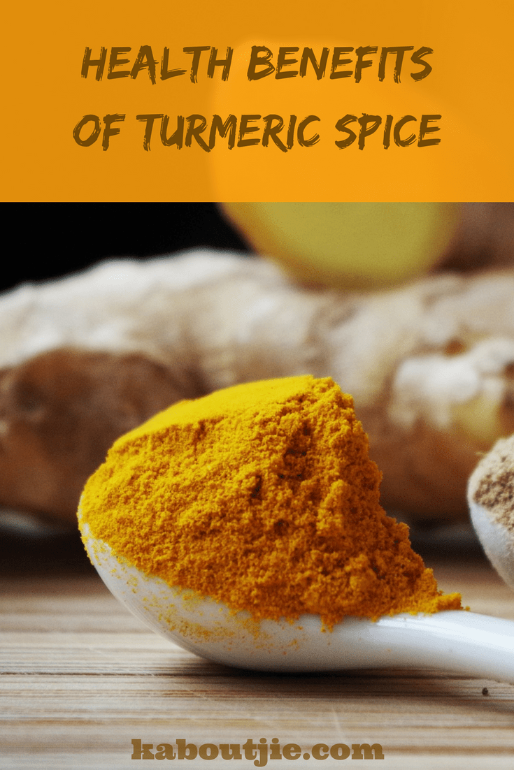 Health Benefits of Turmeric Pinterest Image