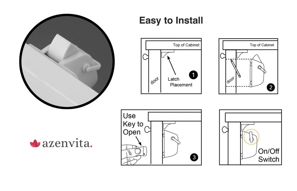 easy to install child safety magnetic cabinet locks