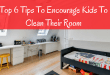 Tips to encourage kids to clean their own room