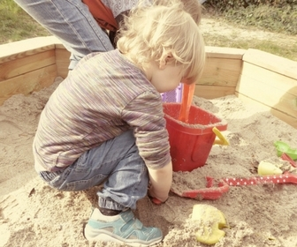 Kids sand pit birthday present