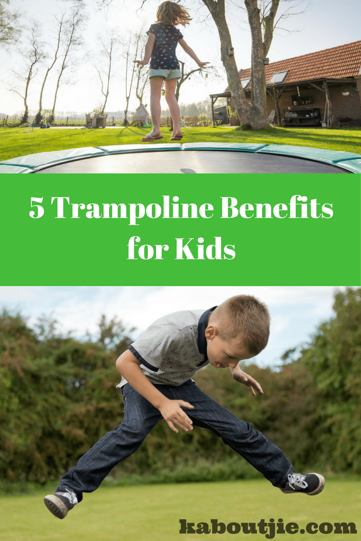 Trampoline benefits kids Pin image