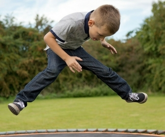 Trampolines encourage outdoor play