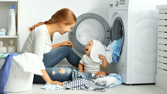Clean the lint from washing machine