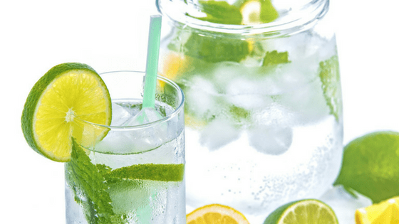 Drink water for healthy skin care
