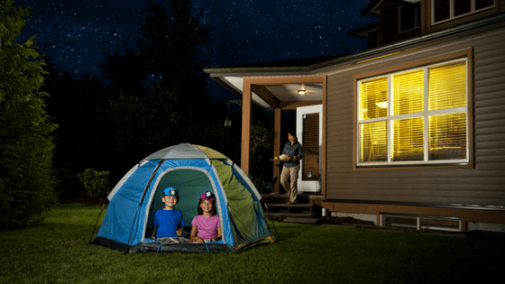 Camping in your backyard