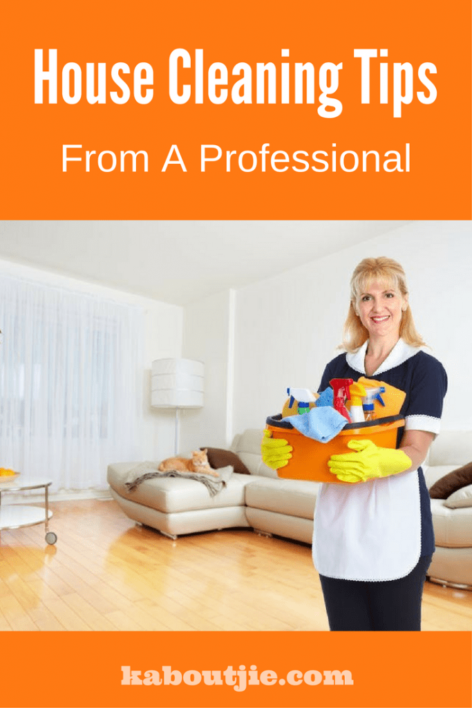 House cleaning tips from a professional