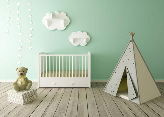 Minimalistic baby room