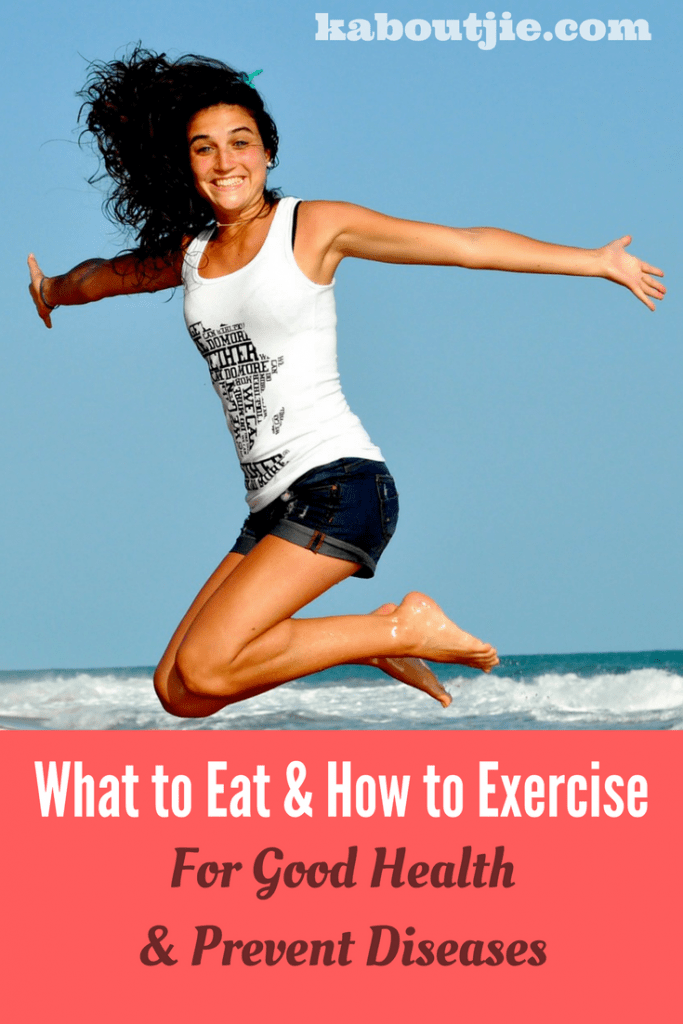Healthy diet and healthy exercise Pin