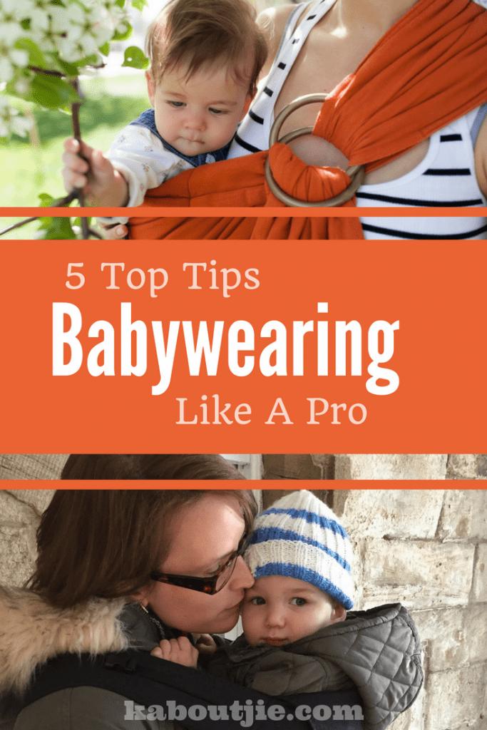 Top Tips for babywearing Pin