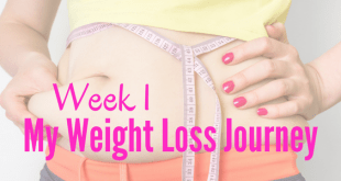 Week 1 my weight loss journey