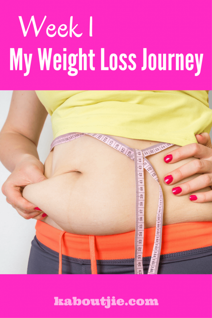week 1 my weight loss journey pin