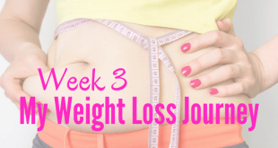 Week 3 my weight loss journey