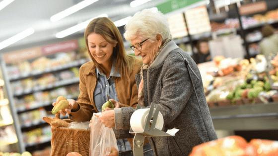 Assisting elderly parent