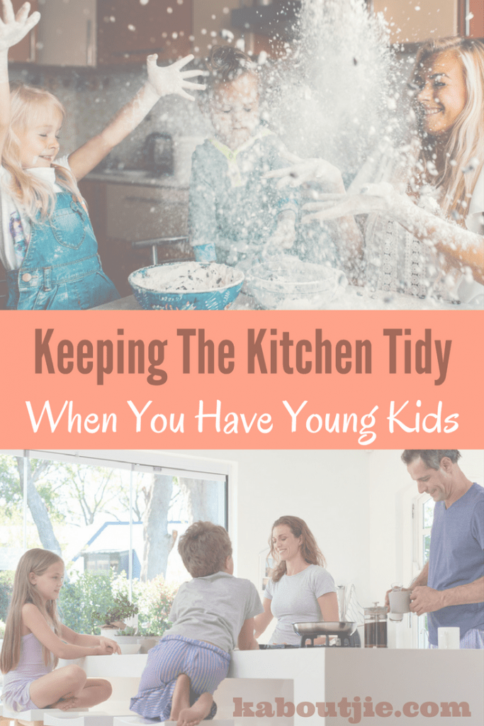 Keeping the kitchen tidy when you have young kids