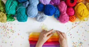 Knitting hobby for moms