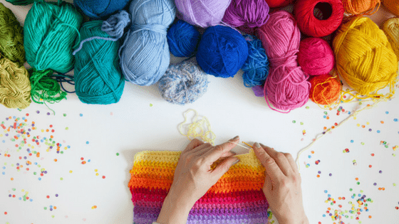 Knitting hobby for moms