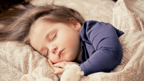 Toddler girl sleeping