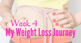 Week 4 My Weight Loss Journey