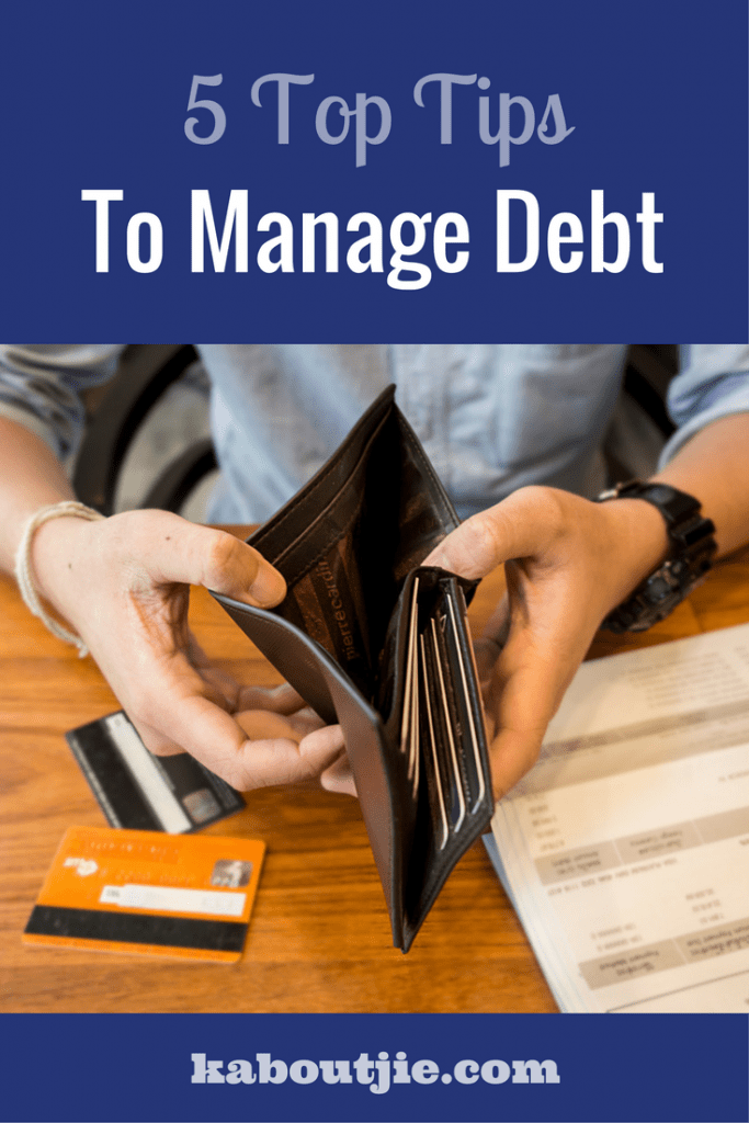 5 Top tips to manage debt