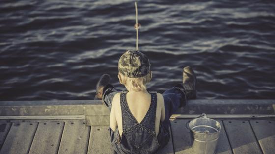 Simple fishing gear kids