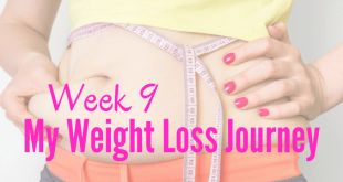 Week 9 my weight loss journey