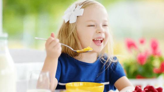 Girl Healthy Breakfast