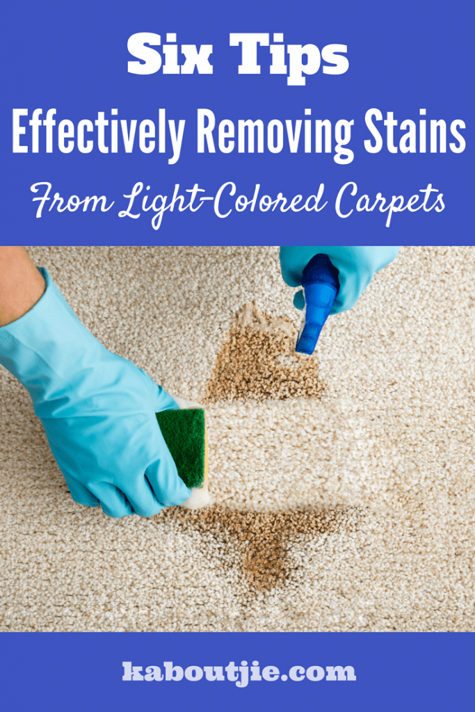 Six Tips For Effectively Removing Stains From Light Colored Carpets