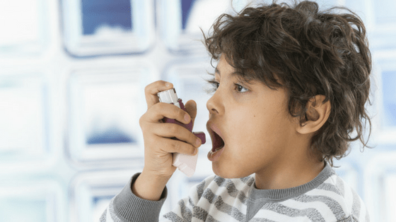 Boy allergy asthma pump