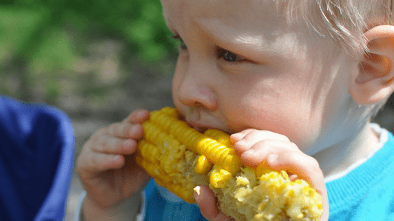 Child Eating Mielie
