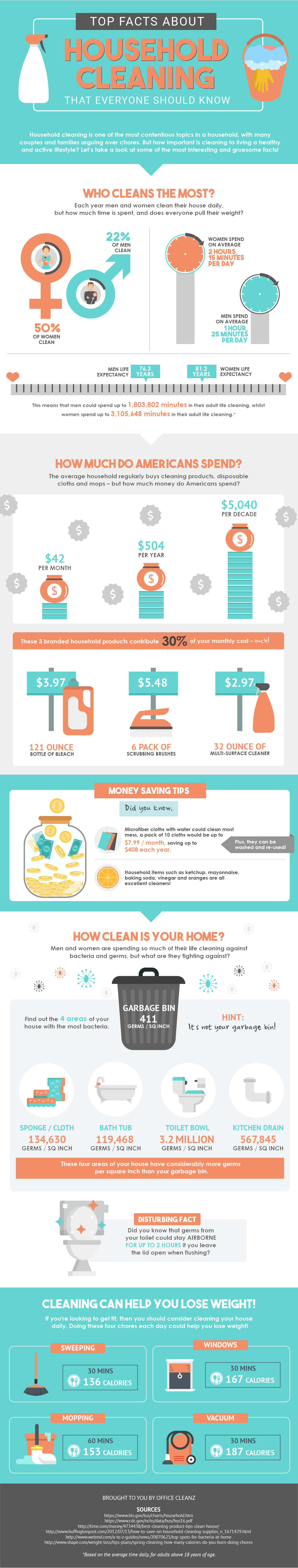 Household Cleaning Infographic